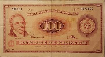 100 krone Seddel 1961