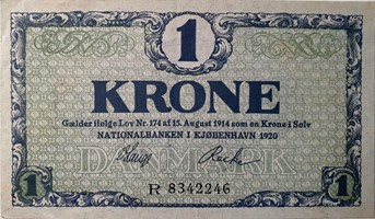 1 krone seddel 1920