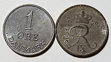 1 øre Zink 1948 – 72