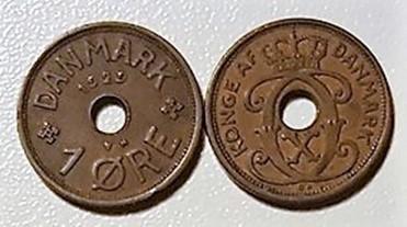 1 øre Bronze 1926 -1940