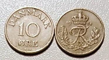 10 øre nikkel 1948 – 60