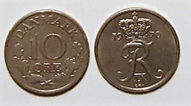 10 øre nikkel 1961 – 72