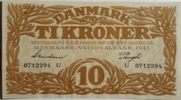 10 krone seddel 1943