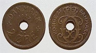 2 øre bronze 1929