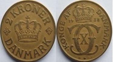 2 krone alum. bronze 1938