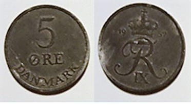 5 øre zink 1957
