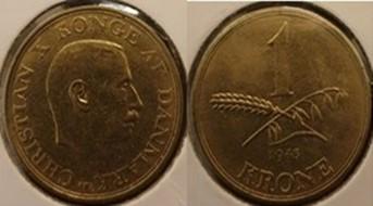 1 Krone  Alum. bronze 1943