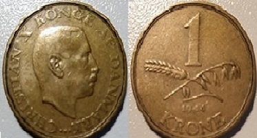 1 Krone Alum. bronze 1944