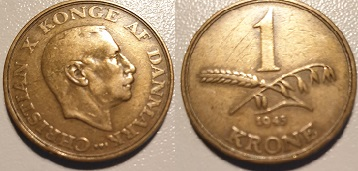 1 Krone Alum. bronze 1945