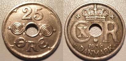25 Øre Nikkel 1936