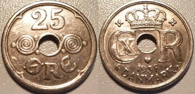 25 Øre Nikkel 1938