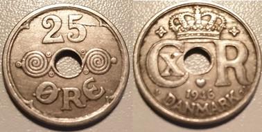 25 Øre Nikkel 1946