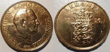 2 Krone Alum. bronze 1956