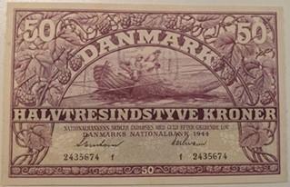 50 Krone Seddel 1944