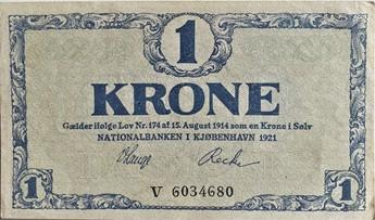 1 Krone seddel 1921